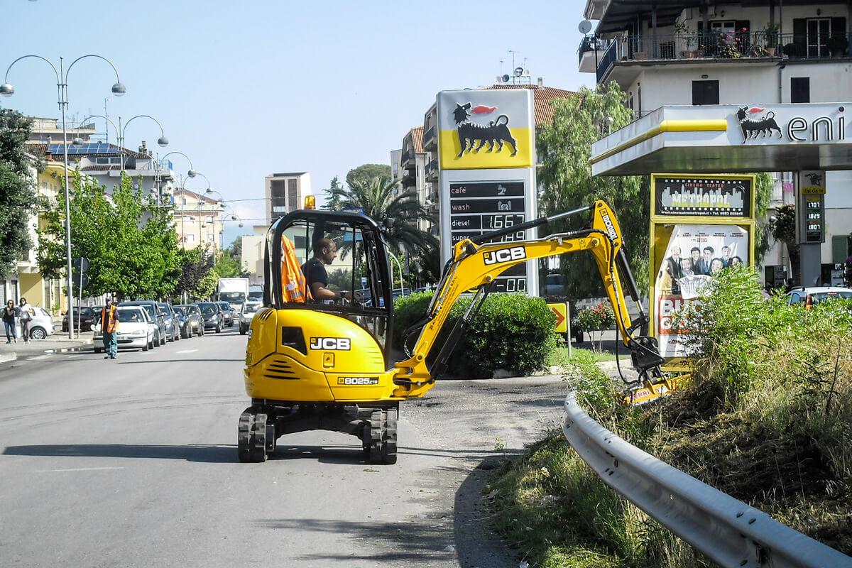 mezzo speciale per potatura e manutenzione stradale