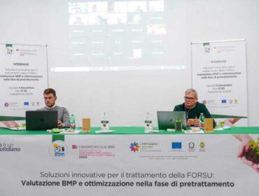 Eugenio Pulignano e Maurizio Morrone presentano risulaati progetto di ricerca Ecoross e Dimeg